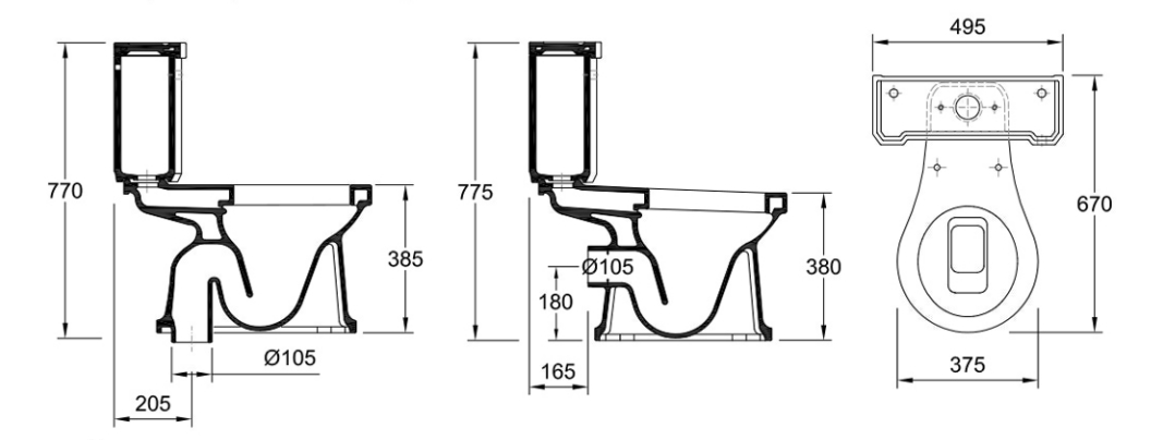 Neoclassica valadares for Inodoro para discapacitados medidas