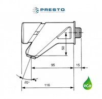 PRESTO 2010eco LAVABO A PARED