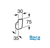 MEDIDAS ROCA SELECT PERCHA A816301001