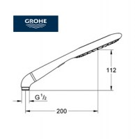 GROHE RAINSHOWER ICON TELEDUCHA