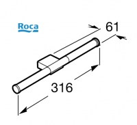 ROCA FASHION PORTARROLLOS RESERVA DOBLE