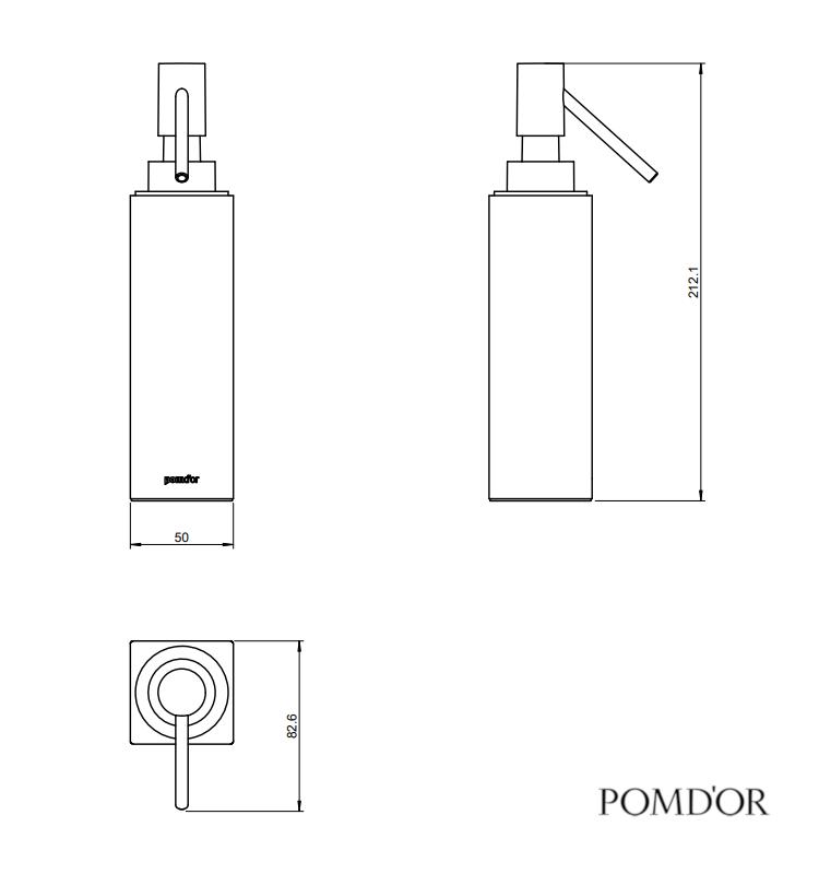 Dosificador encimera cromo metric Pomdor