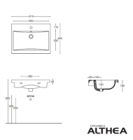 MEDIDAS LAVABO CLEVER 61 ALTHEA