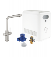 STARTER KIT CAÑO EN L SUPERSTEEL BLUE PROFESSIONAL GROHE