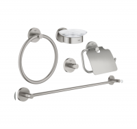 PACK ACCESORIOS 5 EN 1 GROHE ESSENTIALS SUPERSTEEL