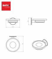 BATH+ DUO ROUND JABONERA A PARED