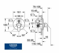 GROHE BAUEDGE EMPOTRABLE BAÑO