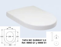 VILLEROY TAPA WC SUBWAY 2.0